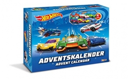 Craze 13908 - Hot Wheels Adventskalender, mit Spielzeug, Autos, Sticker -