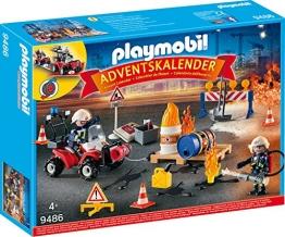 PLAYMOBIL 9486 Adventskalender Feuerwehreinsatz auf der Baustelle -