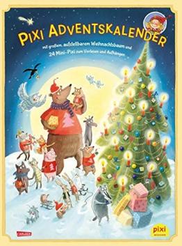 Pixi Adventskalender mit Weihnachtsbaum 2018: mit großem, aufstellbarem Weihnachtsbaum und 24 Mini-Pixi zum Vorlesen und Aufhängen -