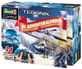 Revell Control 01020 RC Adventskalender Hubschrauber, ferngesteuerter RC Helikopter für Einsteiger zum Selberbauen, GHz Fernsteuerung, LED-Beleuchtung, USB-Ladegerät, Gyro, Batterien enthalten -