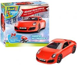 Revell Junior Kit 01018 - Adventskalender Porsche 911 Carrera S - 24 Tage cooler Bastelspaß, der Bausatz mit dem Schraubsystem für Kinder ab 4 Jahren, zum Bauen und Spielen -