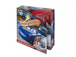 Adventskalender Fabulous Lightning McQueen von Revell Junior Kit - Disney Cars 3 - 24 Tage cooler Bastelspaß für Kinder ab 4 Jahren, Bausatz zum Schrauben, Basteln und Spielen, robust - 01012 - 1
