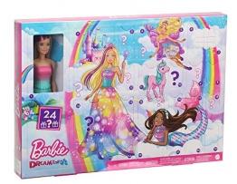 Barbie GJB72 - Dreamtopia Adventskalender mit Puppe und Zubehör, Puppen Spielzeug und Adventskalender Mädchen ab 3 Jahren - 1