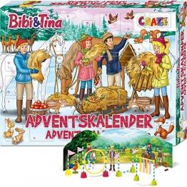 CRAZE Adventskalender 2020 BIBI & TINA Pferde Spielfiguren Set Pferdefiguren Spielset für Mädchen und Jungen 24676 - 1