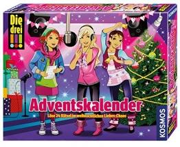 Kosmos 631895 - Die drei !!! Adventskalender 2015 - Löse 24 Rätsel im weihnachtlichen Liebes-Chaos - 1