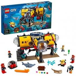 LEGO 60265 City Meeresforschungsbasis Tiefsee-Unterwasserset, Tauchabenteuer-Spielzeug für Kinder - 1