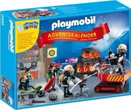Playmobil 5495 - Adventskalender Feuerwehreinsatz mit Kartenspiel - 1