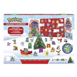 PoKéMoN Figuren Adventskalender 2020 - Enthält 16 Battle Figuren (5cm) & 8 Weihnachtszubehören - Offiziell lizensiert & Authentische Details - 1