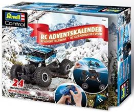 Revell 1026 Adventskalender RC Crawler, mit Fernsteuerung und Batterien in 24 Tagen zum selbstgebauten, ferngesteuerten Auto, Blau - 1