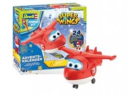 Revell Junior Kit 01024 Super Wings Adventskalender Jett Bauen-Schrauben-Spielen, 24 Tage cooler Bastelspaß, ab 4 Jahre, 20 cm - 1