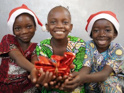 afrika kinder an weihnachten