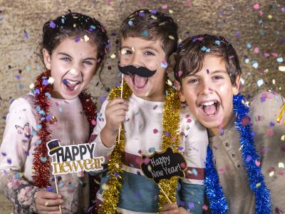 neues jahr mit kinder feiern