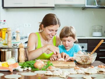 Backen und Kochen mit Kindern