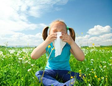 Kinder mit Pollenallergie