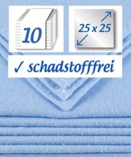 10 Stück Baby Molton Waschlappen 25x25cm Junge 100% Baumwolle bis 60° waschbar - das Original - der Klassiker: rezzu.® - 1