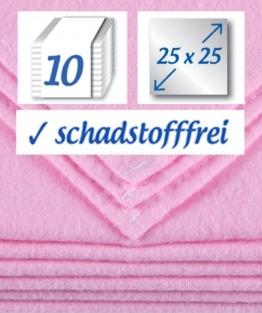 10 Stück Baby Molton Waschlappen 25x25cm Mädchen 100% Baumwolle bis 60° waschbar - das Original - der Klassiker: rezzu.® - 1