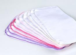 10 Stück Baby Molton Waschlappen 25x25cm Mädchen 5 Farben 100% Baumwolle bis 60° waschbar - das Original - der Klassiker: rezzu.® - 1