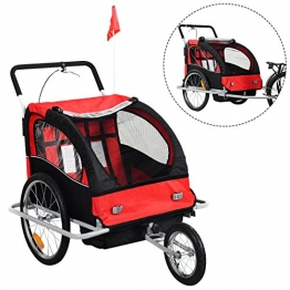 2 in 1 Kinderfahrradanhänger Fahrradanhänger Kinder-Fahrrad-Jogger Kinder Anhänger Kinderanhänger - 1