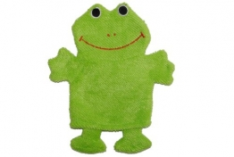 2 in 1: Waschhandschuh + Handpuppe Frosch für Kinder Handspielpuppe Handpuppen Tier Baby Waschlappen - 1