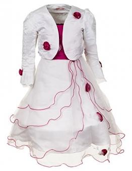 2 teiliges Mädchen Fest Kleid m. Bolero, Pink (10 / 128 / 134, #314) - 1