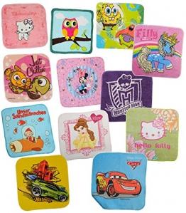 3 Stück: Waschflecken / Waschlappen - für Mädchen - aus 100 % Baumwolle / Seifentuch Seifenlappen - Frottee für Baby + Kinder + Erwachsene - Seiftuch - 1