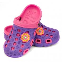 AQUA-SPEED Hawaii Kinder Badeschuhe / Clogs - sehr leicht (violett/pink, 33) - 1