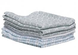 Baby Waschtücher aus Baumwoll-Musselin, Baby Waschlappen - (7 Stück), 30x30 cm, Öko-Tex Standard 100, Fische blau - 1