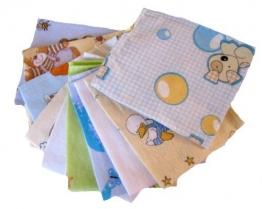 Babymajawelt® - Molton Flanellwindeln mini 40/35 - 10er Pack für Jungen - weiche Spucktücher, Waschlappen -10162 - 1