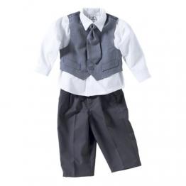 BORNINO Anzug 4-tlg. Baby-Anzug, Größe 86/92, grau - 1