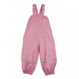 BORNINO Regenlatzhose - Matschhose Baby-Regenhose Regenbekleidung, Größe 86/92, rosa - 1