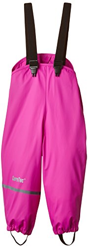 CareTec Mädchen wasserdichte Regenlatzhose, Gr. 86, Rosa (Real pink 546) - 1