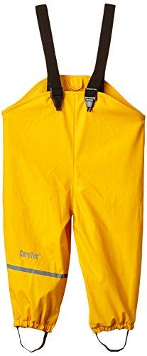 CareTec Mädchen wasserdichte Regenlatzhose mit Fleecefutter, Gr. 128, Gelb (Yellow 324) - 1