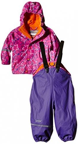 CareTec Mädchen wasserdichte Regenlatzhose und -jacke im Set, Gr. 98, Violett (Purple 633) - 1