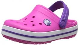 Crocs Crocband K NMgt/NPpl C10/11, Unisex-Kinder Clogs, Pink (Neon Magenta/Neon Purple 6N4), 27/29 EU - 1