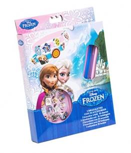 Disney Frozen 92075 - 3 Armbänder aus Gummi mit 18 Anhänger, Geschenkbox, 15 x 2.5 x 20.5 cm - 1