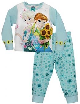 Disney Mädchen Die Eiskönigin Schlafanzug Anna und Elsa Sommer-Sonnenwende 134 - 1