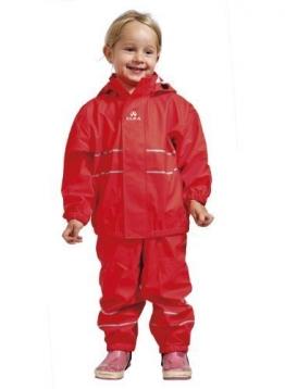 ELKA Regenanzug für Kinder rot 86 Hose und Regenjacke - 1