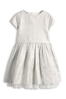 ESPRIT Mädchen Kleid 115EE7E003, Gr. 128 (Herstellergröße: 128/134), Weiß (OFF WHITE 110) - 1