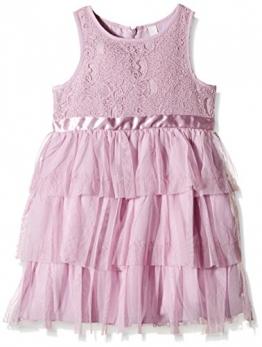 ESPRIT Mädchen, Kleid mit Spitze, 115EE7E001, GR. 128 (Herstellergröße:128+), Violett (lilac) - 1