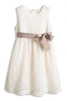 ESPRIT Mädchen Kleid mit Spitze, Gr. 128 (Herstellergröße: 128/134), Weiß (OFF WHITE 110) - 1