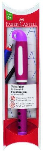 Faber-Castell 149868 - Schulfüller für Linkshänder, Feder: L, Schaftfarbe: pink - 1