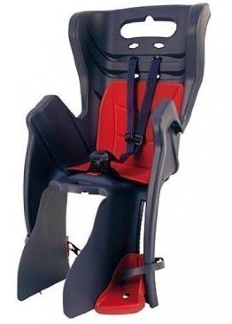 Fahrrad-Kindersitz LITTLE DUCK CLAMP für Gepäckträgermontage dunkelblau/rot - 1
