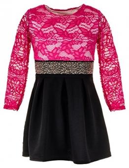 Festliches Mädchen Kleid (12/140/146, #258 Pink) - 1