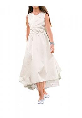 Festliches Mädchenkleid aus Satin, mit Organza und Tüll, creme-weiß, Körpergröße in cm:134 cm - 1