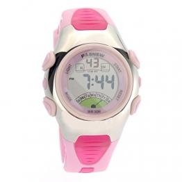 Foxnovo PASNEW PSE-219 wasserdichte Kinder jungen Mädchen LED Digital Sport Uhr mit Datum /Alarm Stoppuhr (Pink) - 1
