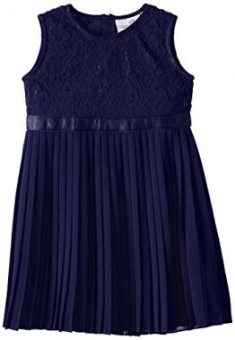 Happy Girls Mädchen Kleid mit floraler Spitze und Chiffonrock, Gr. 134, Blau (marine 62) - 1