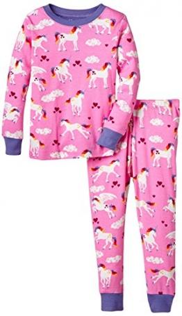 Hatley Mädchen, Zweiteiliger Schlafanzug, Pj Set (Ovl) -Unicorns, GR. 19 (Herstellergröße: 3 Years), Rosa (pink) - 1