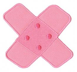 Hosenpflaster Pflaster Rosa Pink Aufnäher Bügelbild - 1