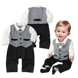 ipretty Gentleman Baby Jungen Jumpsuit Bodysuit Strampler Anzug Romper Overall - 1