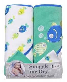 Junge Fische Design: 2 Pack stricken Terry Towel, 76x66 cm und 2 Waschlappen - 1